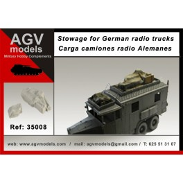 Stowage for German radio truck Krupp