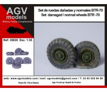 Set damaged / normal wheels BTR-70