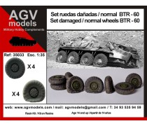 Set  damaged / normal wheels BTR