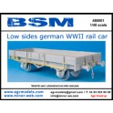 Low sides german WWII rail car