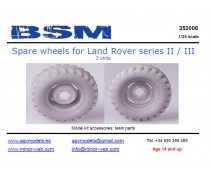 Spare wheels for Land Rover series II/III
