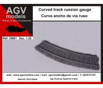 Curved track russian gauge