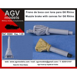 Muzzle brake with canvas for G6 Rhino