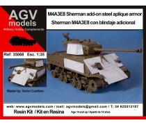 Sherman M4A3E8 with steel aplique armor